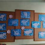 Zimní malování, lepení, tvoření - Myšky