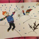 Zimní malování a tvoření - Dráčci
